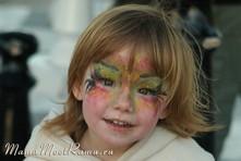 ребенку раскрасить лицо гримом