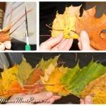 Как сплести корону из листьев