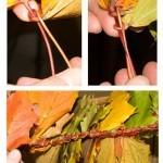 Как сплести венок из листьев