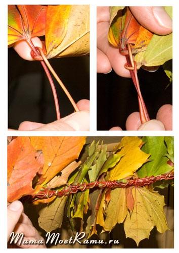 фото венок из листьев
