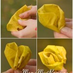 Как свернуть розочку из листа клена
