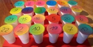 Календарь адвент из стаканчиков