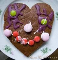пряничный домик рецепт, пряничное сердечко