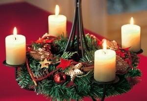 Венок адвент с 4мя свечами