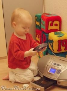 Музыка на диске -- оригинальный подарок для малыша.
