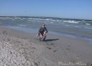 После работы -- отдых на пляже.