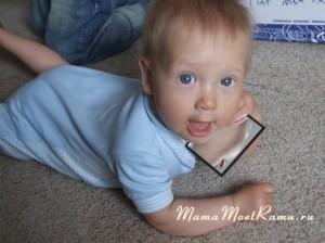 Зеркальце для ребенка -- развивающая игрушка