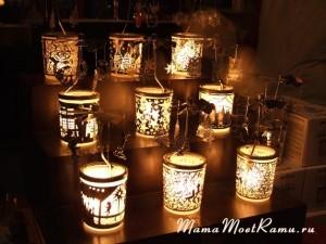 Красивые подсвечники -- волшебный подарок.