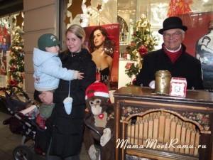 Немецкая шармнка на рождественской ярмарке...