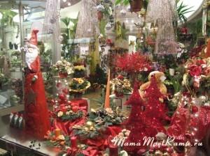 Витрина, украшеная к Рождеству в Германии.