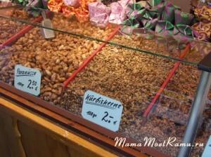 Засахаренные орехи -- кешью, арахис, миндаль и так далее....